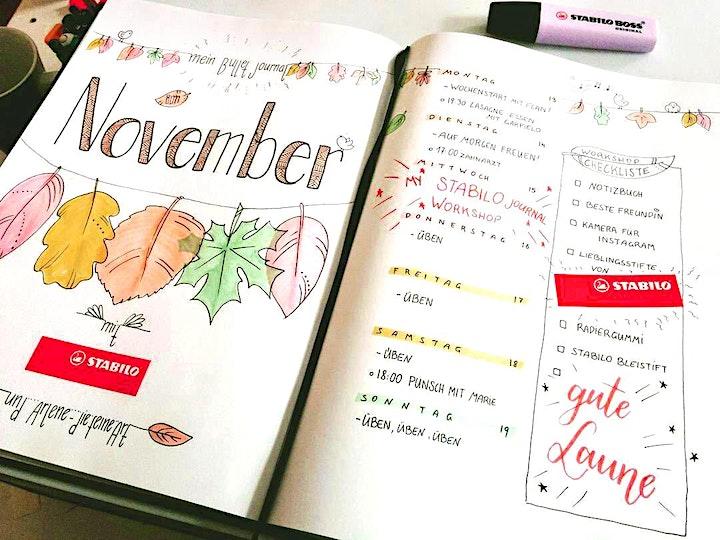 Bullet Journal - Schmuck-Elemente und Lettering - Wien - November: Bild