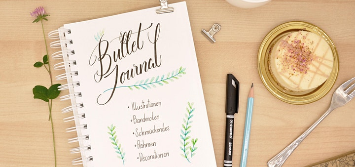 Bullet Journal - Schmuck-Elemente und Lettering - Graz: Bild