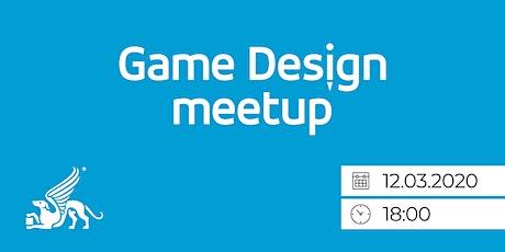 Game Design Meetup - Od gamera ku game designerovi tickets