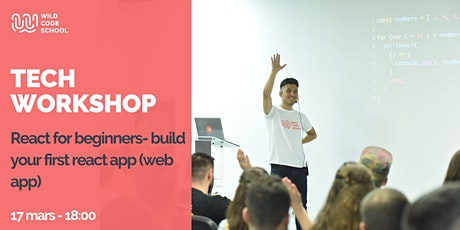 Tech Workshop - React for beginners- build your first react app (web app) tickets