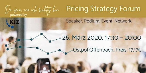 Pricing Strategy Forum - Speaker. Podium. Event. Network.