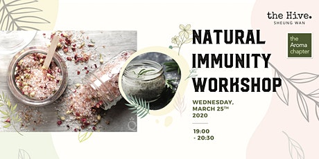 [Postponed to TBC] Natural Immunity Workshop tickets