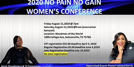 2020 No Pain No Gain Women's  Conference tickets