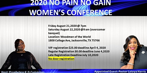 2020 No Pain No Gain Women's  Conference