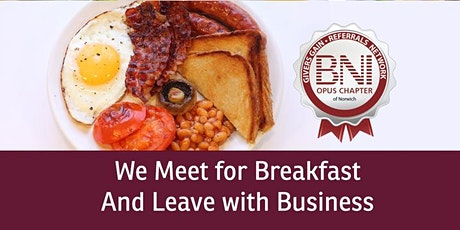 Norwich Business Networking BNI OPUS  tickets