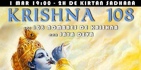 Krishna 108 - Kirtan Sadhana entradas