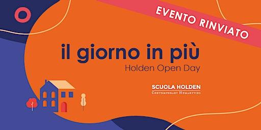 [Rinviato] Holden Open Day | Piccoli accorgimenti per costruzione di mondi