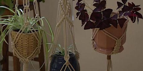 Macramé 'green-thumbed' plant hanger workshop tickets