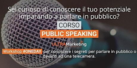 Public Speaking - Come parlare in pubblico ed in video biglietti