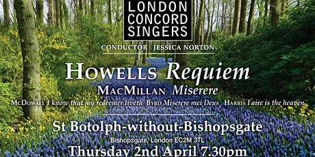 Howells Requiem tickets