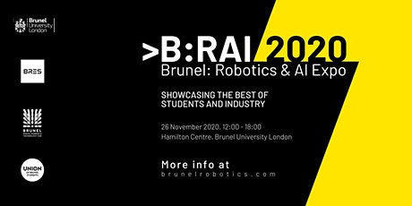 B:RAI // 2020, Brunel: Robotics & AI Expo tickets