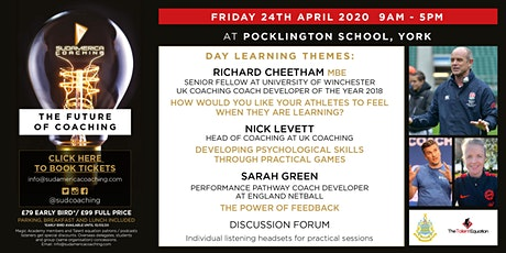 The Future of Coaching Conference @ Pocklington School, York tickets