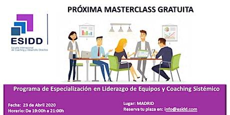 Masterclass en Liderazgo de Equipos & Coaching Sistémico entradas