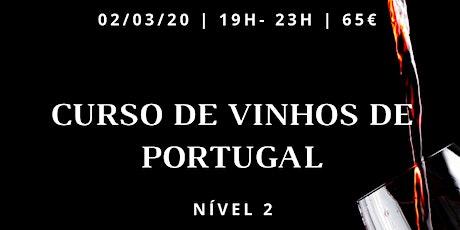 Curso de Vinhos Portugueses-  Parte 2 bilhetes