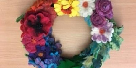 Wet Felt Floral Wreath tickets