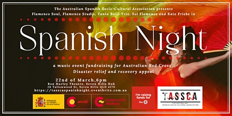 Spanish Night: Fundraising  music event for the Australian  Red Cross tickets