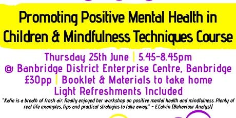 Promoting Positive Mental Health in Children & Min tickets