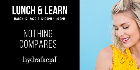 Nothing Compares To Hydrafacial tickets
