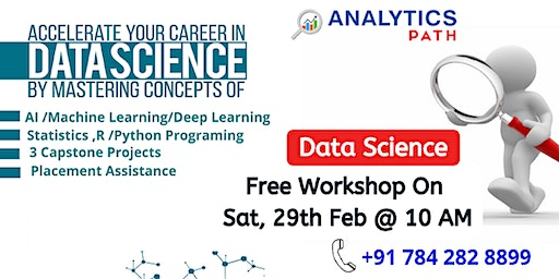 Register For Data Science Free Workshop On Saturday, 29th Feb @ 10 am