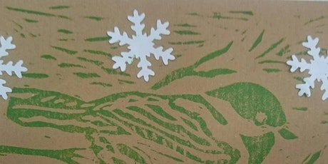 Lino Printing for Christmas tickets
