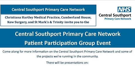 Central Southport Primary Care Network  Patient Participation Group Event tickets