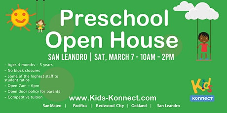 Preschool & Infant Center Open House, San Leandro tickets