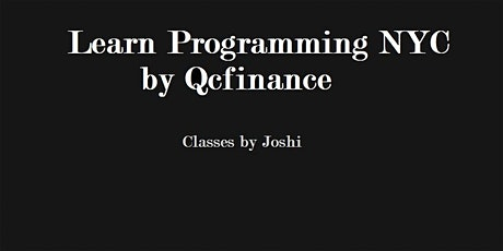 Python For Finance 101 Class (6+6 hours $325 ) NYC- Online Event tickets