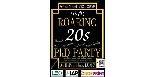 The ROARING 20s PhD PARTY
