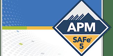 Online SAFe Agile Product Management with SAFe®APM 5.0 Certification Salt tickets