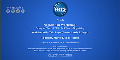 HRTS Associates LA: Negotiation Workshop tickets