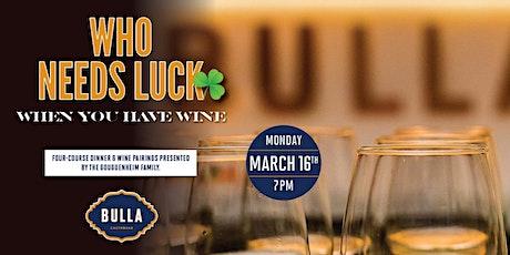 Wine Pairing Dinner at Bulla Tampa tickets