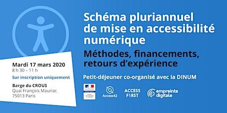 Schéma pluriannuel de mise en accessibilité numérique : méthodes, financements, témoignages - 17 mars 2020 billets