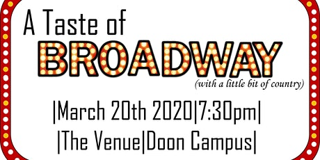 A Taste of Broadway (with a little bit of country) Vocal Identity 2020 tickets