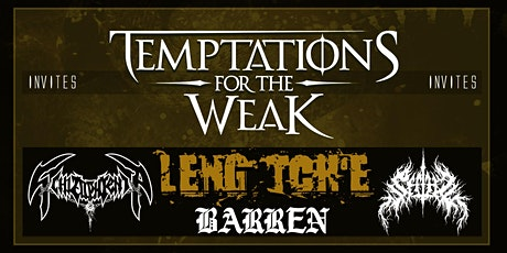 Temptations for the Weak club-tour at JC Bouckenborgh tickets