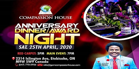 COMPASSION HOUSE 1ST ANNIVERSARY DINNER tickets