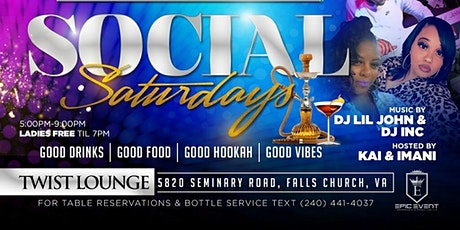 Social Saturday's at Twist Lounge tickets