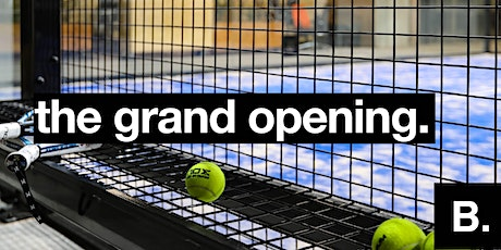 Opening paddle courts tickets