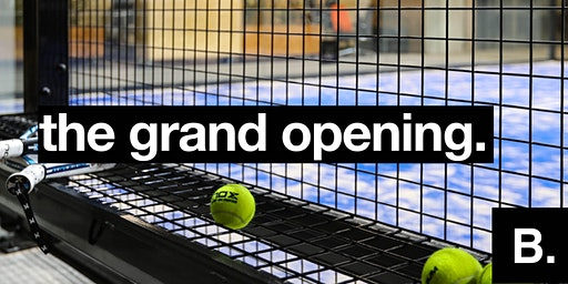 Opening paddle courts