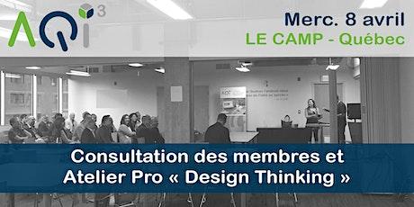 Consultation des membres et atelier interactif sur le Design Thinking billets