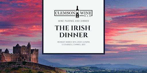 Irish Dinner and Wine Pairing