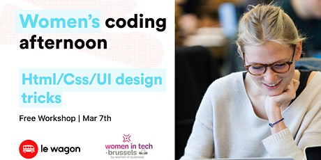 Women Coding Afternoon x Women in Tech billets