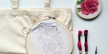 Hand Embroidered Tote Bag Workshop tickets