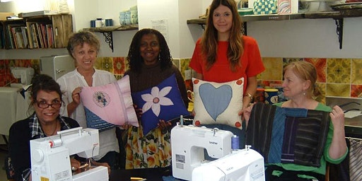 Creative making on the machine (appliqued cushion or tote style bag)