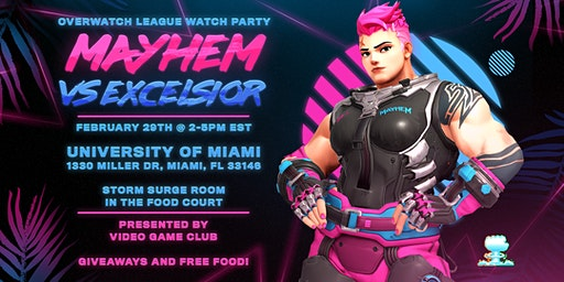 Florida Mayhem Watch Party @ University of Miami
