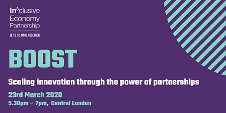 BOOST: The new scale-up programme for social innovators from the IEP tickets
