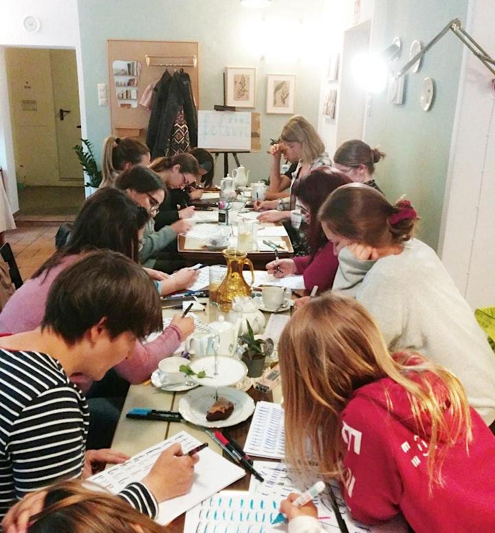 Brush-Lettering und Tee - für Anfänger in Graz - Dezember: Bild