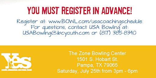 FREE USA Bowling Coach Certification Seminar - The Zone Bowling Center, Pampa, TX