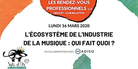 Syli d'Or 2020 - Les rendez-vous professionnels - Lundi 16 mars 2020 billets
