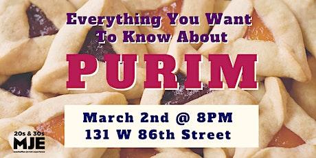 Purim Workshop with Rabbi Mark Wildes | 20s & 30s Mondays@8PM tickets