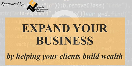 For Agents: Expand Your Business by Turning Clients into Investors tickets